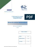 La revue de presse hebdomadaire de l'Observatoire de la corruption de Transparency Maroc (N°238 du 16 au 23 novembre 2012)
