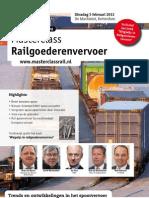 Brochure Masterclass Railgoederenvervoer