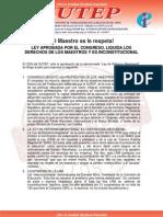 Comunicado SUTEP 24 Nov