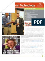 Saint Leo University Instructional Technology Newsletter Fall 2012