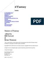 Bill Fawcett - Anthology - Masters of Fantasy
