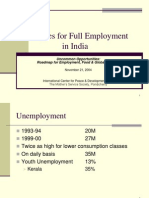 Strategies for Full Employment in India