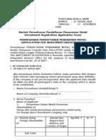Formulir Pendaftaran Penanaman Modal (Indo+Eng)