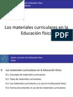 9. Los materiales curriculares en la Educación física