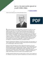El hombre nuevo y la renovación epocal en Boris Mouravieff_Gianrico Gualtieri