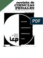 Problemas básicos de la autoría y de la participación en el CP chileno (Yáñez). Revista de Ciencias penales.