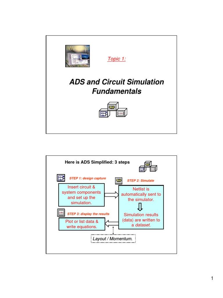 Ads Circuit Simulation Amplifier Mathematical Optimization Electronics Simulators