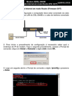 DSL-2640B Internet Em Modo Router FW GVT