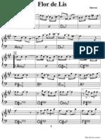 Djavan Flor de Lis PARTITURA PIANO