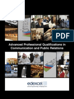 Advanced Professional Qualifications in Communication and Public Relations
