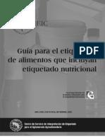 Guía Para Etiquetado Nutricional