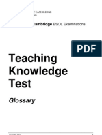 UCLES2011 Glossary of English Language Teaching Terms