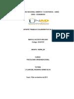 PSICOLOGIA ORGANIA Aporte Trabajo Colaborativo No 2 Marylu-2
