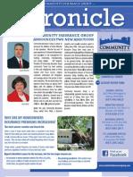 Community Insurance Group Newsletter the Chronicle
