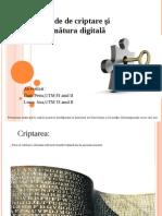 Semnaturi digitale . Criptare