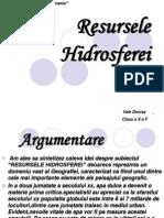 Resursele Hidrosferei - Geo.
