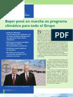 Bayer pone en marcha un programa  climático para todo el Grupo