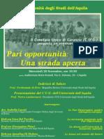 Seminario Pari Opportunita