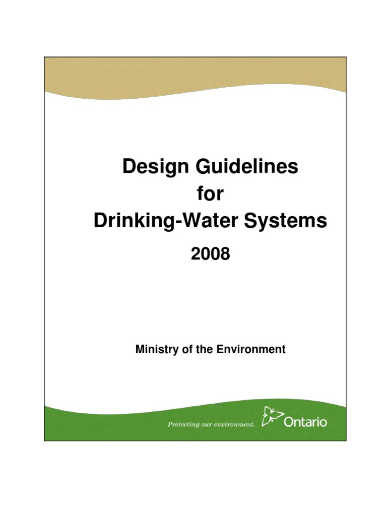 Design Guidelines For Drinking Water Systems 2016 220v 5g Diy Ozone Generator And Circuit Board Air Or Resources