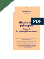 HISTOIRE DE LA PHILOSOPHIE,tome 2