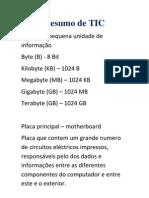 Resumo de TIC