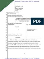 SEC v Gold Standard Mining Et Al Doc 41 Filed 26 Nov 12
