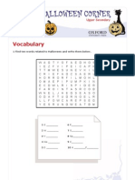 Halloween Vocabulary and Reading