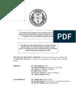 2012 TPSB January Minutes