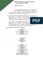 Constitución Política del Perú 1993 estructura