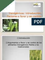 2-Transgénicos introducción-Factores a favor y en contra