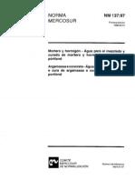 [NM 137-97] - Argamassa e Concreto - Água Para Amassamento e Cura de Argamassa e Concreto de Cimento Portland
