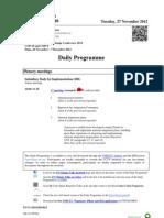 COP18 Daily Schedule