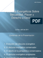 Discursos evangélicos sobre sexualidad placer y derecho a decidir