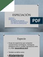 ESPECIACIÓN  examen