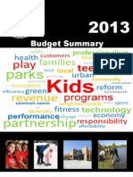 2013 Chicago Park District budget