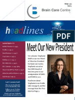 Headlines, Brain Care Centre Quarterly Newsletter