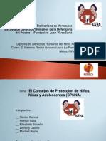 Presentacion de la exposición de los Consejos de Proteccón de NNA