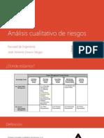 11-3 Análisis cualitativo de riesgos
