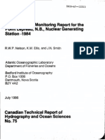 Point Lepreau Monitoring 1984