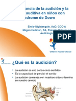 Emily Nightengale and Megan Hedman - The Importance of Hearing Loss in Children With Down Syndrome - Spanish
