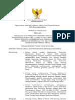 Permenakertrans No 20 Th 2012 Ttg Perubahan Atas Permenakertrans No 12 Th 2007