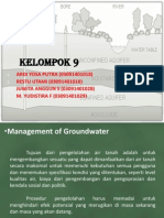Management of Groundwater