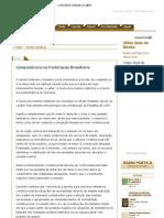 Competência na Federação Brasileira
