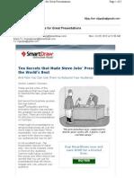 Steve Jobs' 10 Secrets for Great Presentations