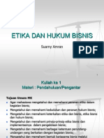 Etika Dan Hukum Dalam Bisnis