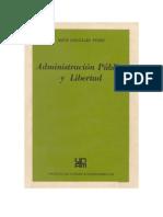 Gonzales Pérez, Jesús. Administración Pública y libertad