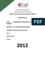 Diagnostico Serologico de Brucellosis y Fiebre Tifoidea