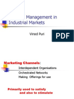 Channel Management in Industrial Markets