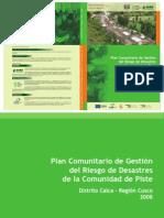 Plan Comunitario de Gestion Del Riesgo de Desastre de La Comunidad de Piste Calca