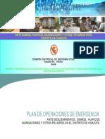 Plan de Operaciones de Emergencia Del Distrito de Chazuta